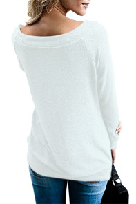 White Women's Off Shoulder Tunic Top