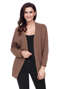 Khaki Windy Morning Waffle Cardigan