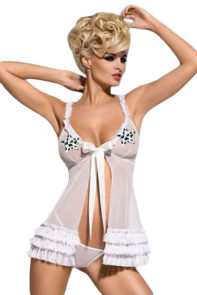 White Obsessive Kalia Sexy Babydoll Dress