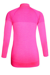 Rosy Atheletic Running Yoga Jacket with Mesh Accent