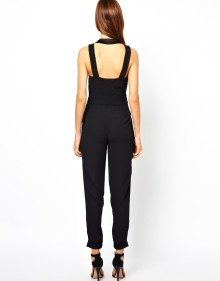 Smart Suit Style Sleeveless Jumpsuit