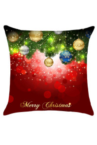 Christmas Tree Decorative Balls Print Throw Pillow Case