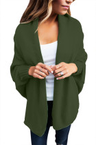 Olive Chunky Knit Open Front Dolman Cardigan