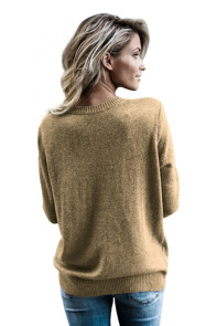 Army Green West Coast Wrap Front Sweater