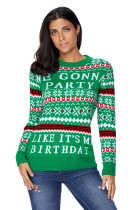 Green WE GONNA PARTY Ugly Christmas Sweater