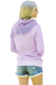 Purple Duotone Chic Hooded Sweatshirt