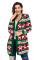Green Red Reindeer Geometric Christmas Cardigan