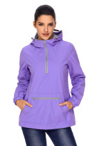 Lilac Monogrammed Pullover Rain Jacket