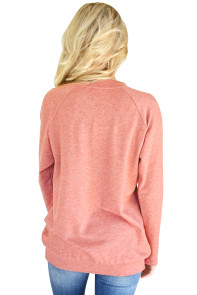 Rust Red Women's Lace up Sweatshirt Jumper