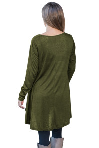Green Swingy Layered Long Sleeve Tunic
