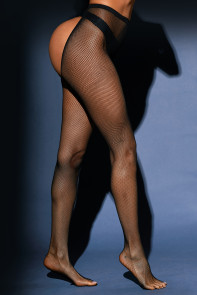 Open Buttocks Fishnet Pantyhose