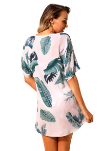 Tie The Knot Palm Leaves Beach Cover-up