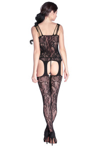 Bouquet Lace Suspender Body Stockings