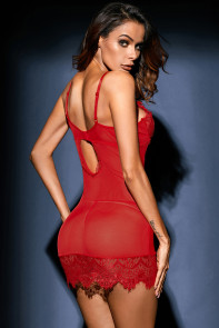 Red Eyelash Lace Chemise