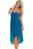 Blue Convertible Beach Dress Cover Up