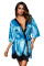 Turquoise Luxurious Satin Robe Nightwear
