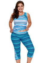 Multiple Zigzag Print Tankini and Capris Set
