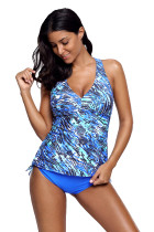 Blue Sea Cami Swim Top and Panty Set