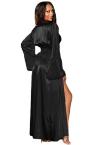 Black Glamour Valentine Long Robe