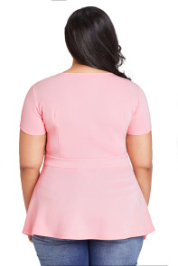Pink Plus Size Caged Top