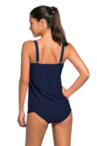Navy Blue 2pcs Swing Tankini Swimsuit