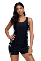 Stylish Striped Active Tankini and Short Swimsuit