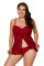 Burgundy Lace Flyaway Underwired Tankini Bathing Suit