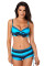 Blue Black Ombre Shading Push Up Bikini and Boardshort