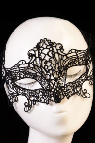 Black Hollow-out Lace Dancing Ball Party Masquerade Mask