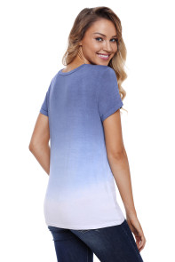 Knotted Ombre Top in Blue