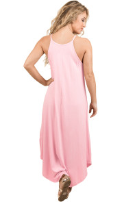 Sexy Summer Tank Maxi Dress in Pink