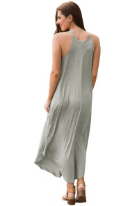 Sexy Summer Tank Maxi Dress in Gray