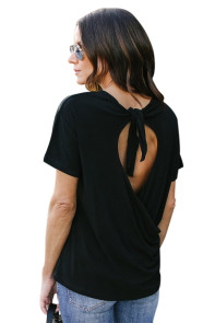 Black Love Tie Tee Top