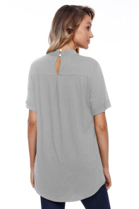Gray Cage Design High Neck Top