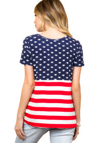 The Stars and Stripes Front Knot T-shirt