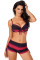 Red Black Ombre Shading Push Up Bikini and Boardshort