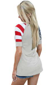 Gray Stars Stripes Short Sleeve Tee