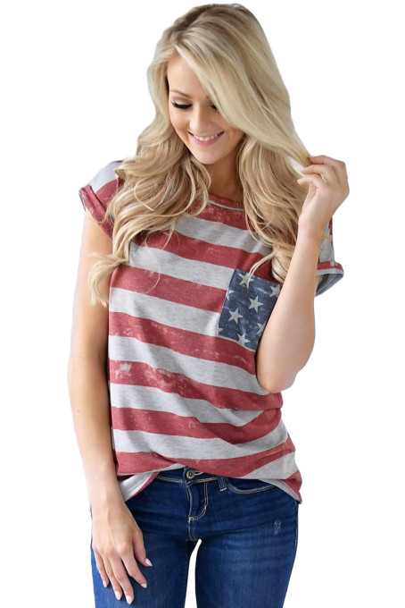 The United States Flag Print T-shirt
