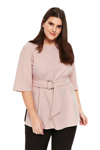 Apricot D-Ring Plus Size Top for Women