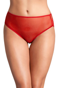 Red Cutout Lace Back Peekaboo Panty