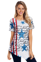 The Declaration of Independence Asymmetric Hem T-shirt