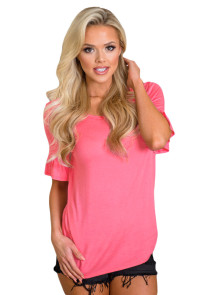 Rosy Adorable Casual Ruffle Short Sleeve Top