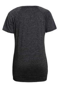 Charcoal Black Heathered Short Sleeve Pocket Tee