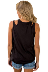 Black Knot Sleeveless Tank Top
