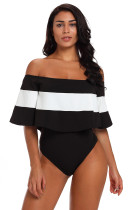 Black Stripe Bardot Bodysuit