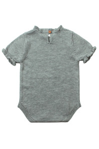 Grey Vintage Knit Short Sleeve Toddler Onesies