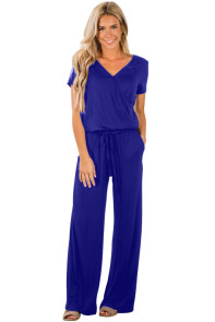 Blue Casual Lunch Date Jumpsuit