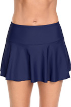 Navy Ruffle Swim Skirt