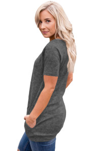 Grey Heathered Short Sleeve Pocket Tee