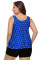 Blue Black Polka Dot Tank Top and Short Swimsuit